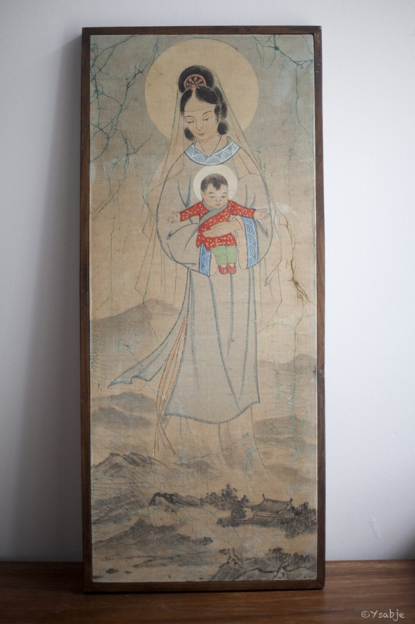Chinese dame op doek 1