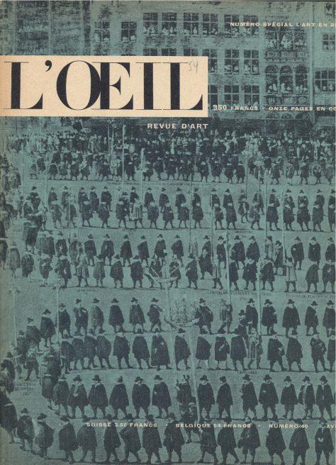 L'oeil – Revue d'Art n° 40 avril 1958 L'art en Belgique