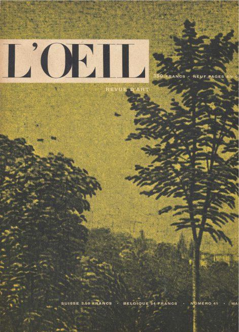 L'oeil – Revue d'Art n° 41 mai 1958