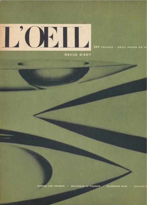 L'oeil – Revue d'Art n° 43/44 juillet-août 1958