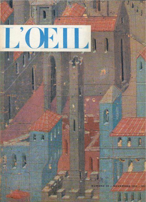 L'oeil – Revue d'Art n° 59 novembre 1959