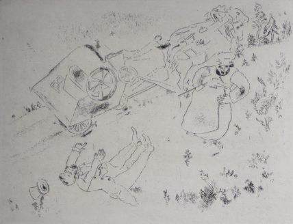 Marc Chagall, Het rijtuig slaat om