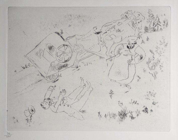 Marc Chagall Gogol Dode Zielen Het rijtuig slaat om 07