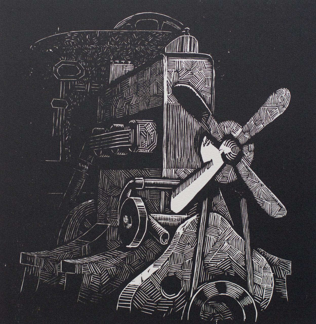 Victor Delhez 15 houtsneden Motor