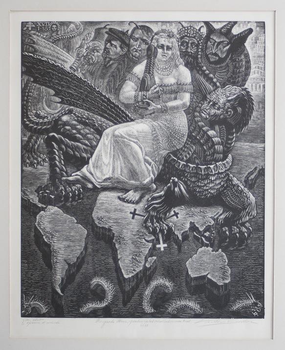 Victor Delhez De grote hoer, gezeten op het scharlakenrode Beest 10