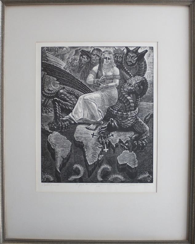 Victor Delhez De grote hoer, gezeten op het scharlakenrode Beest 14