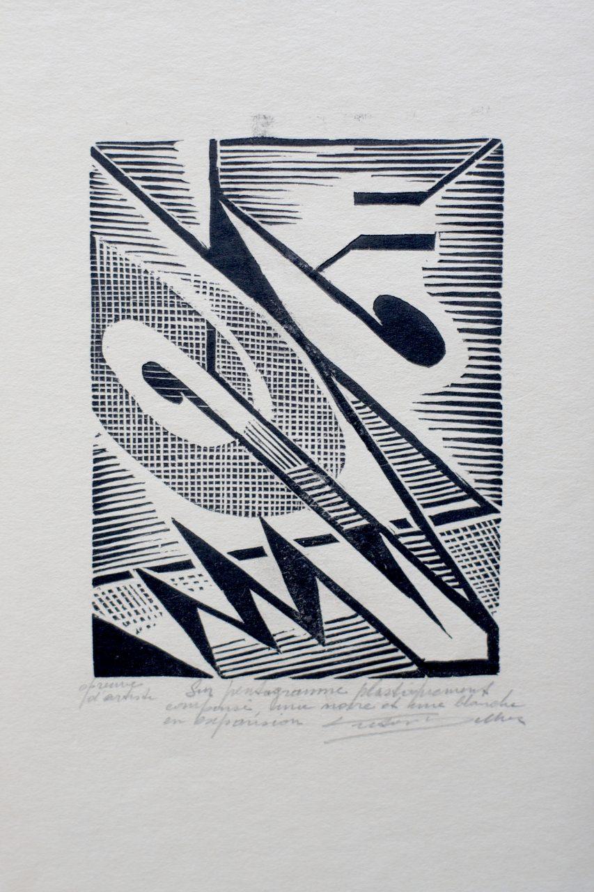 Victor Delhez Op een plastisch gekomposeerd pentagram IIb