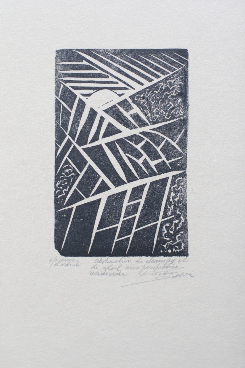 Victor Delhez Veld en zon abstractie 1