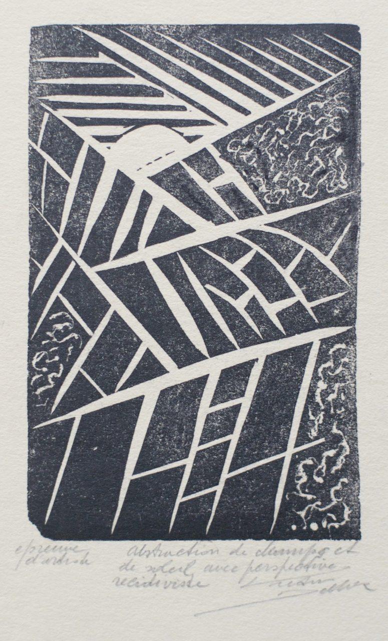 Victor Delhez Veld en zon abstractie 3