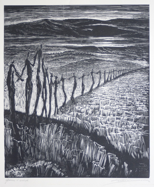 houtsnede Victor Delhez (1902-1985)-01