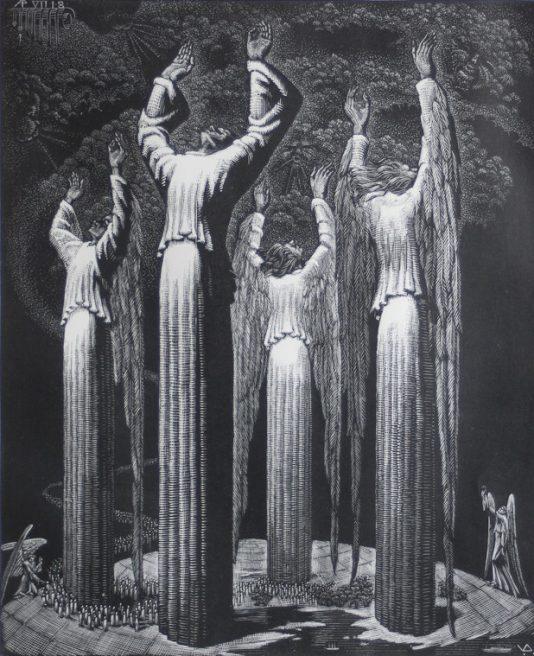 Victor Delhez, De vier afwerende Engelen