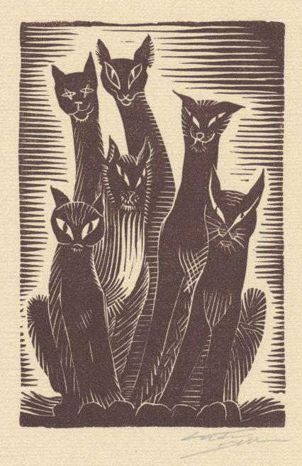 Victor Delhez, Katten