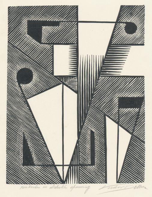 Victor Delhez, Konkreten in abstrakte spanning