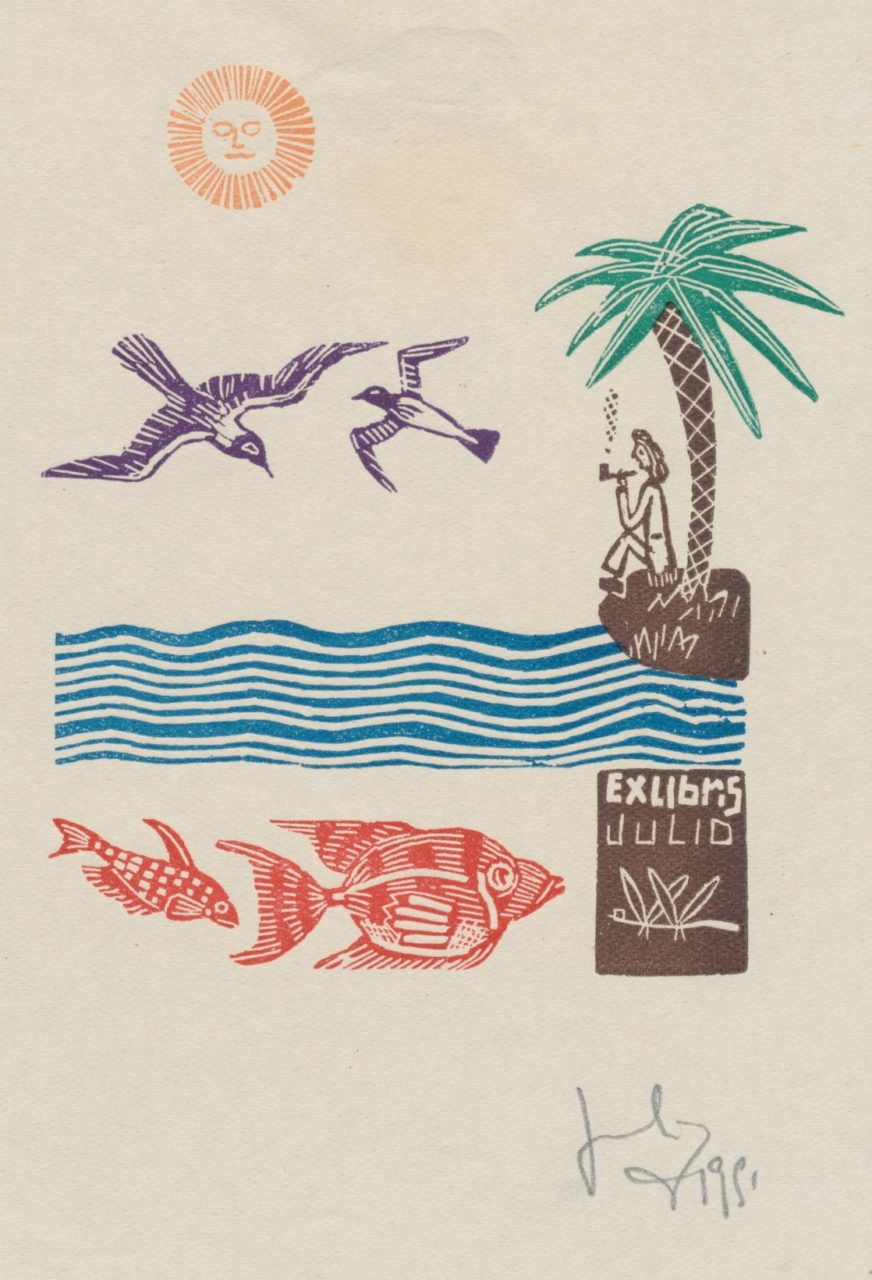 Ex Libris Julio Cesar Salvatierra (ges.houtsnede) III 5 euro 02