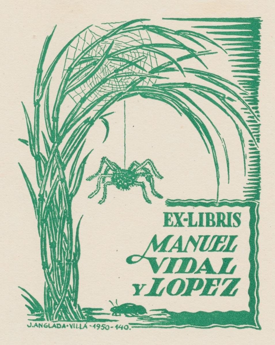 Ex Libris Manuel Vidal y Lopez - Joan Anglada-Villa, 1950 3 euro 02