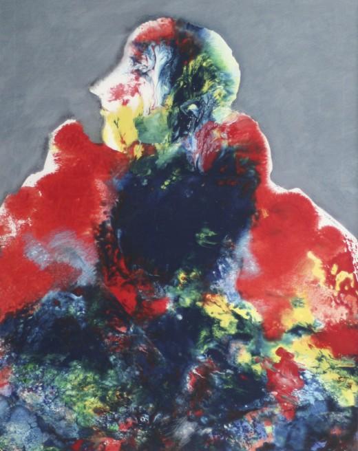 Bruno Dyckmans, olieverf op papier, neo-expressionisme