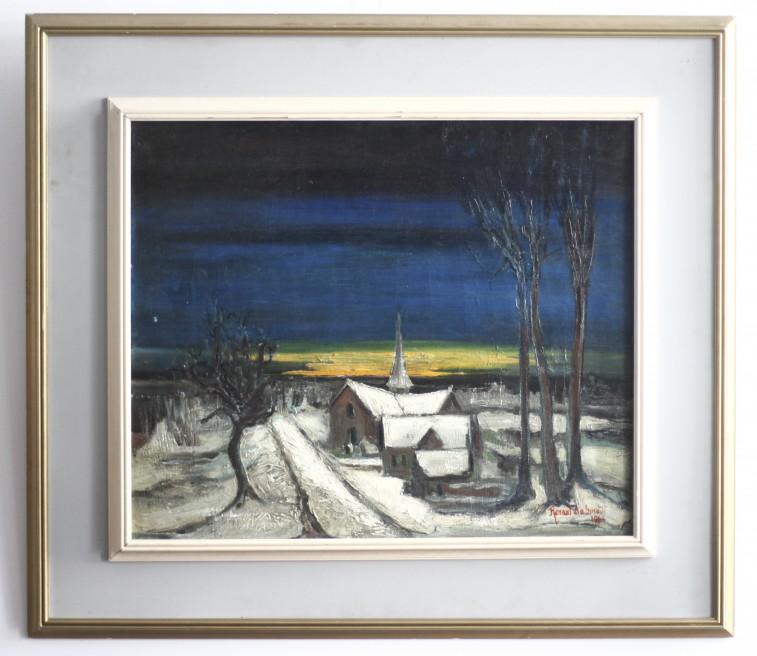 Renaat De Smedt (1931) Olieverf op doek 'Winterlandschap'