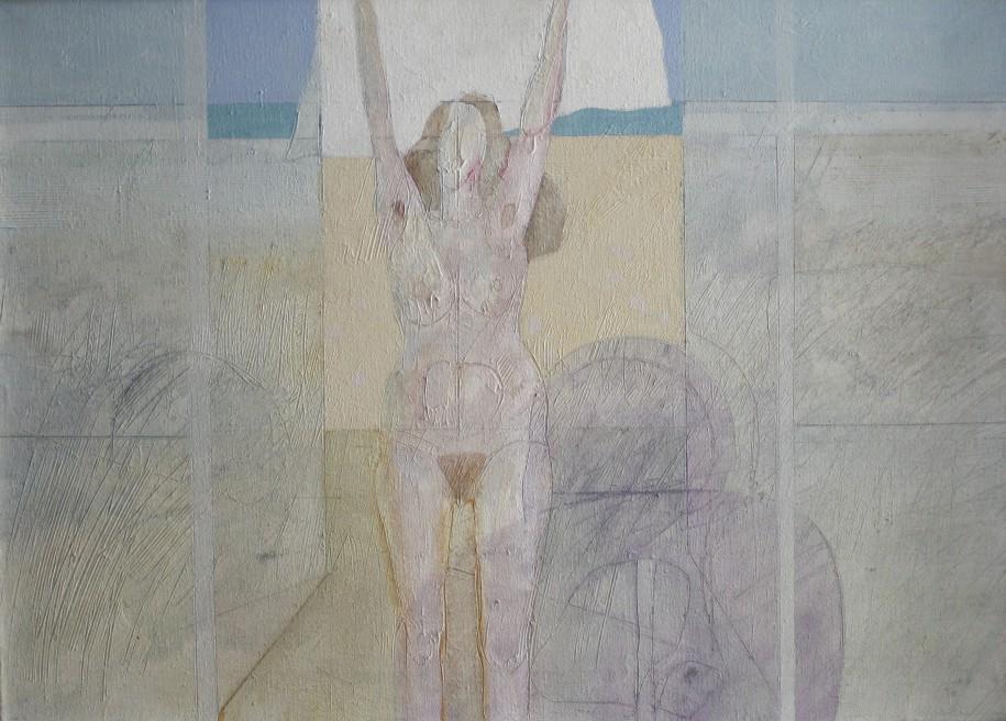 Cel Overberghe (Deurne, 1937) Olieverf op doek 'Naakt'