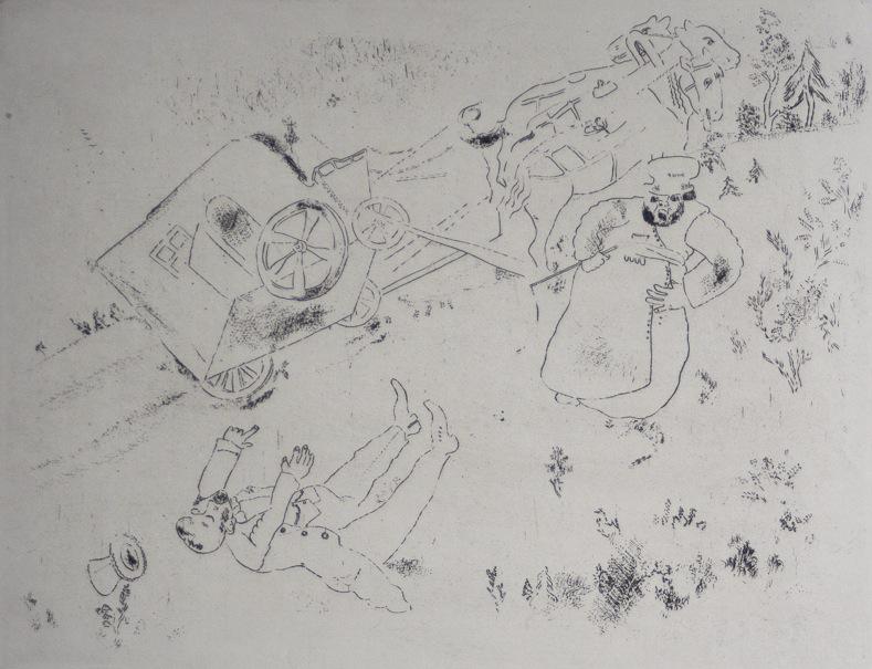 Marc Chagall Gogol Dode Zielen Het rijtuig slaat om 05