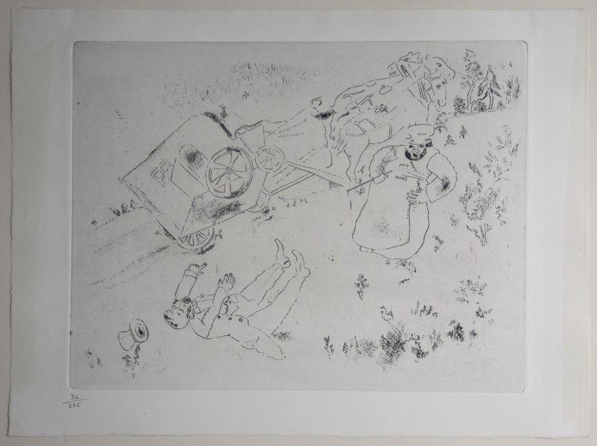 Marc Chagall Gogol Dode Zielen Het rijtuig slaat om 09