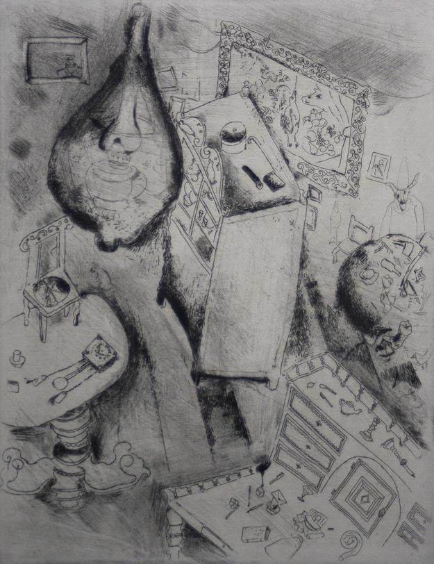 Marc Chagall Gogol Dode Zielen Pljoesjkins kamer 01 kopie