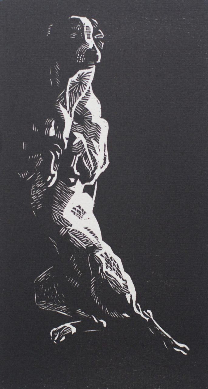 Victor Delhez 15 houtsneden Hondje II