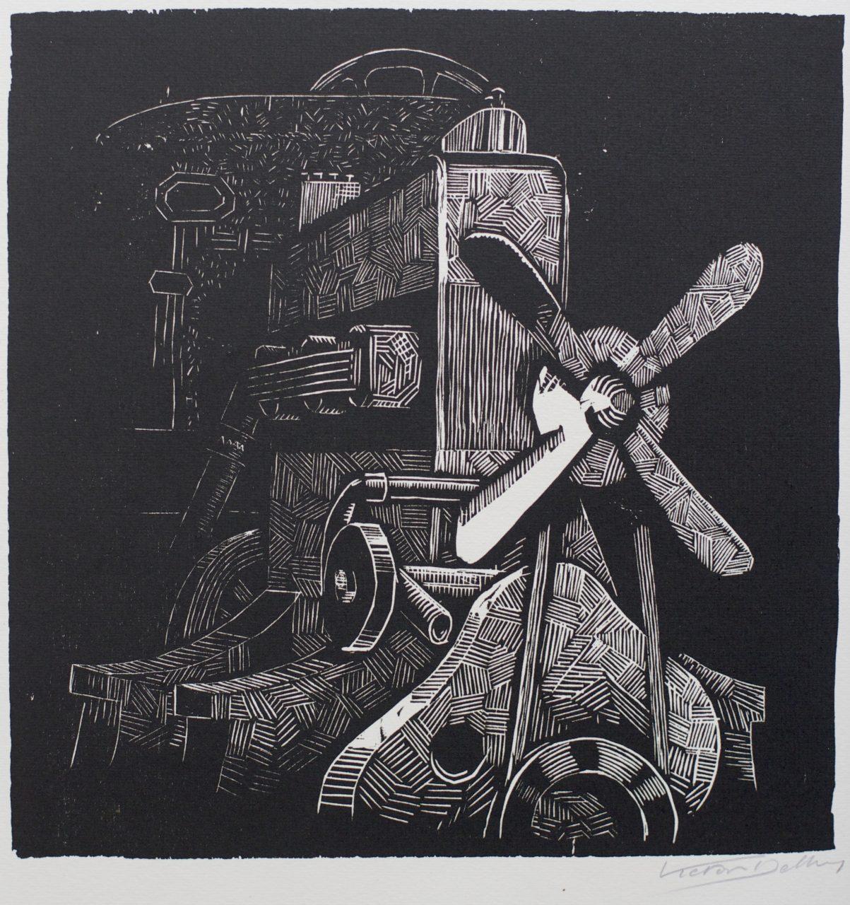 Victor Delhez 15 houtsneden Motor 2