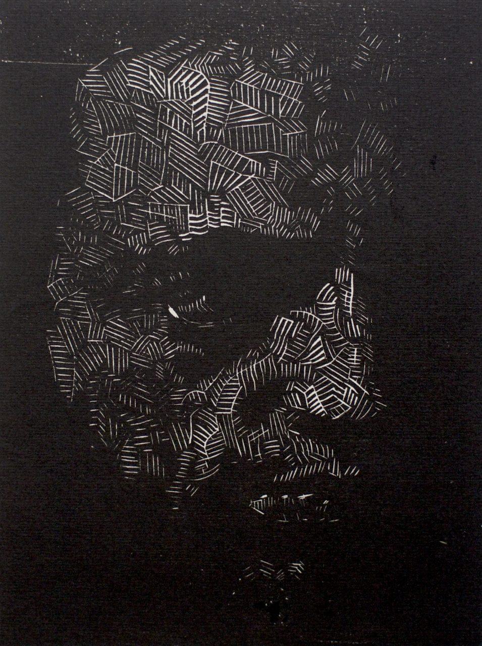 Victor Delhez 15 houtsneden Zelfportret II