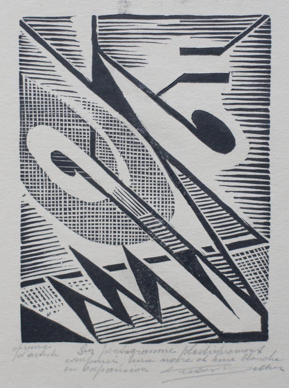 Victor Delhez Op een plastisch gekomposeerd pentagram II