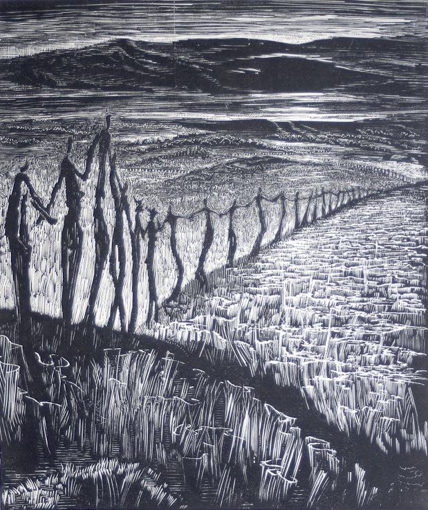 houtsnede Victor Delhez (1902-1985)-02