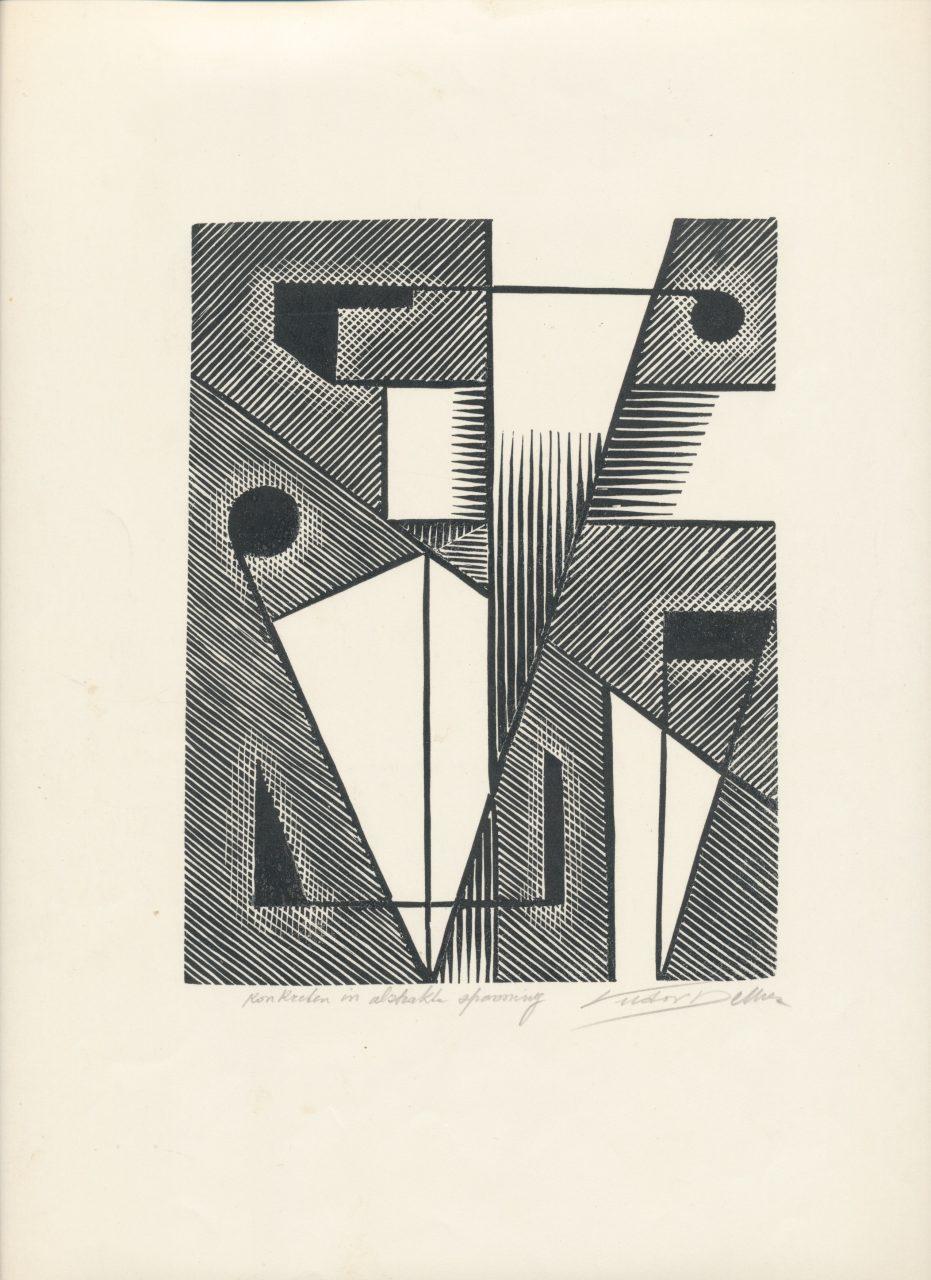 Victor Delhez, Konkreten in abstrakte spanning 01