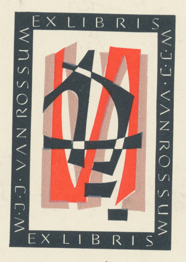 015 Ex Libris W.J.J. Van Rossum -  1,80 euro 02