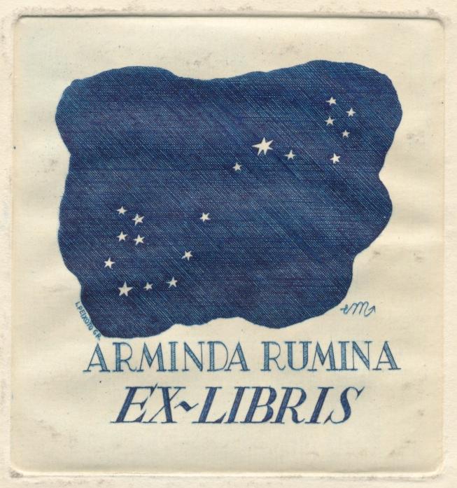 045 Ex libris Arminda Rumina - Eduardo Malta 2,50 euro 02