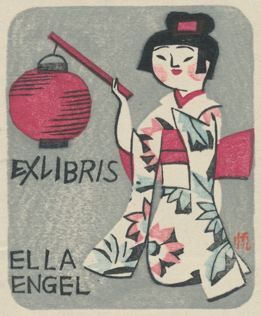 078 Ex Libris Ella Engel - Senpan Maekawa (1888-1960) 20,00 euro 02