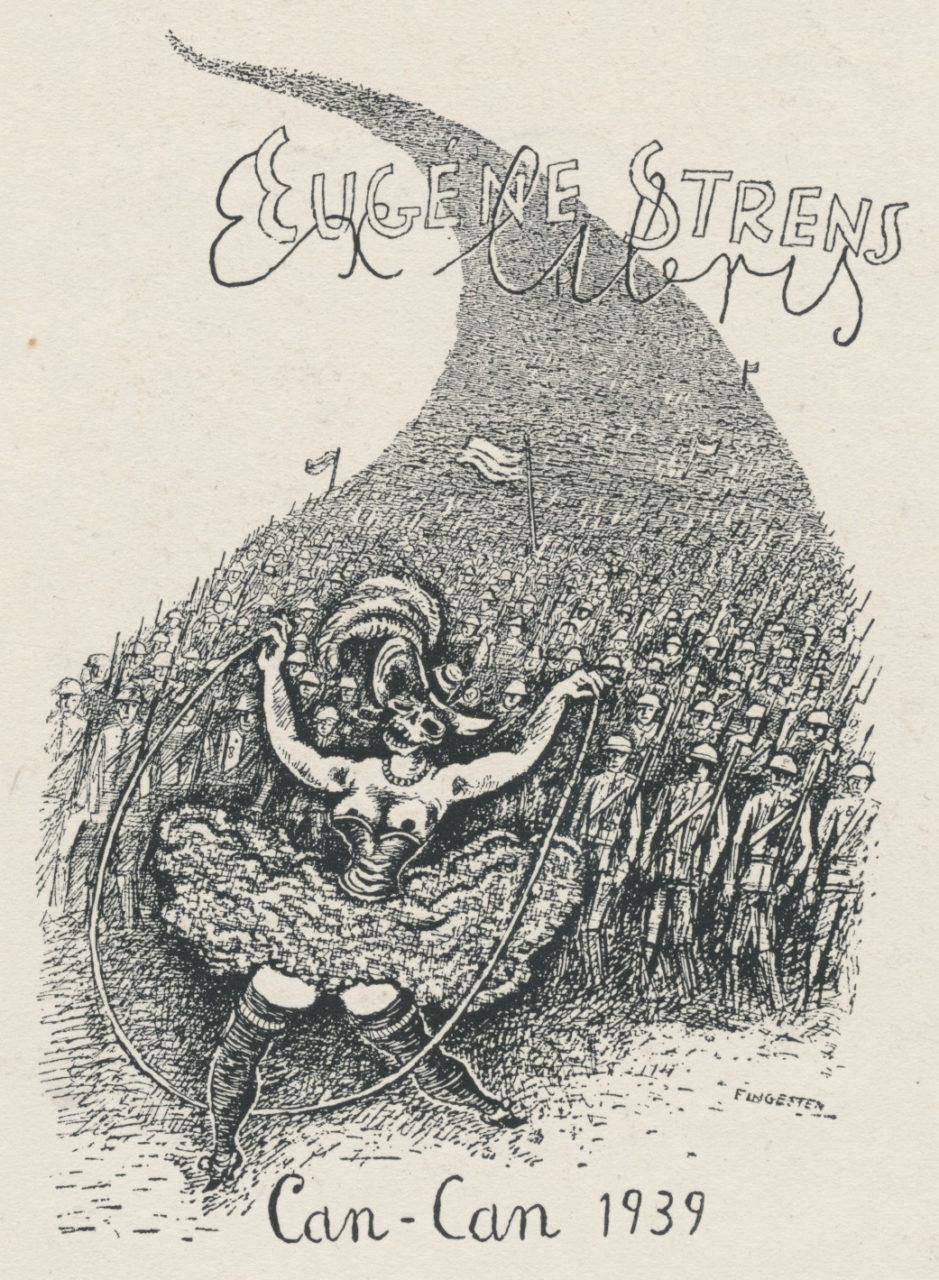 092 Ex Libris Eugene Strens Can-Can 1939 - Michel Fingesten 3,50 euro 02