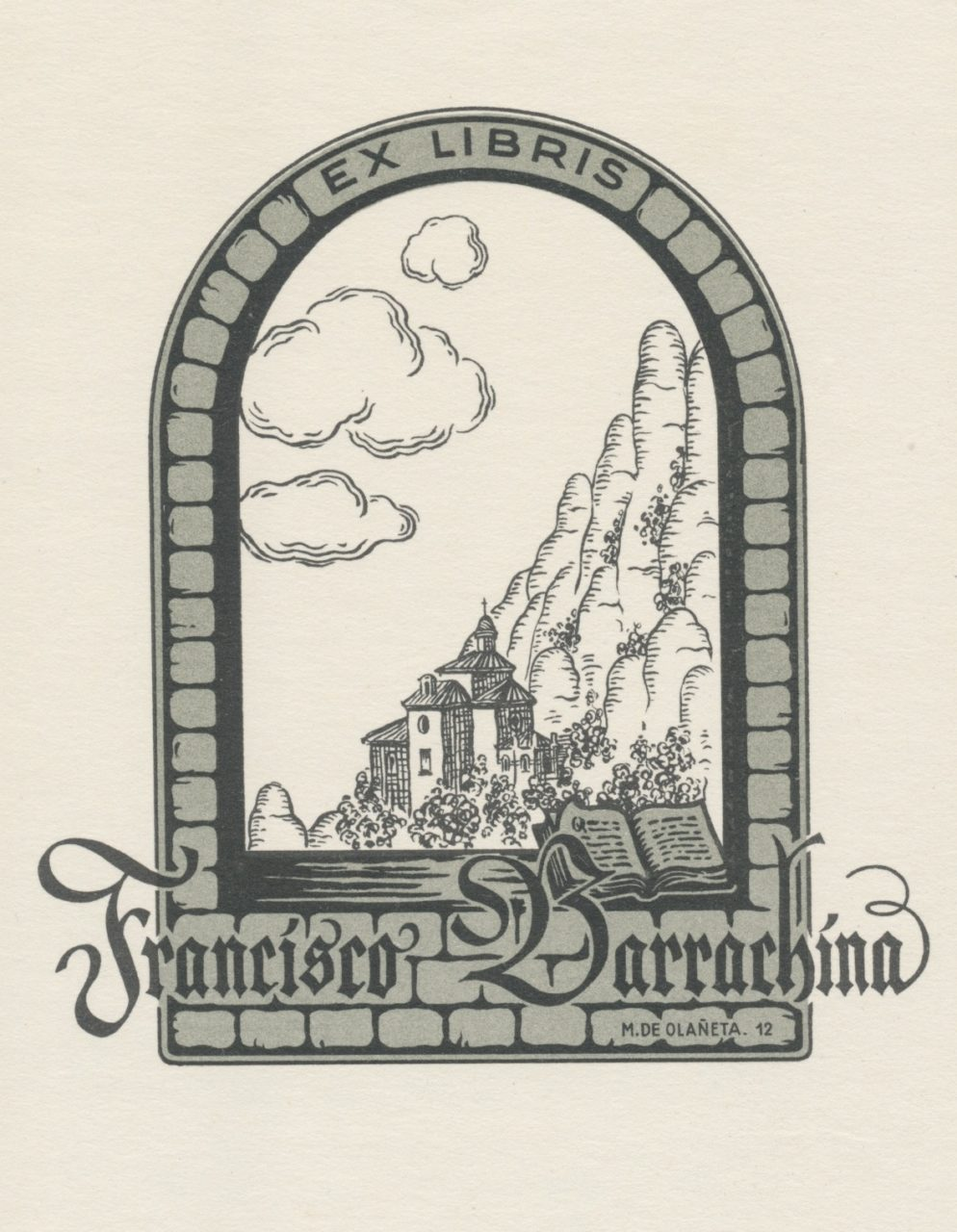 Ex Libris Francisco Barrachina - Mercedes de Olaneta 2 euro 02