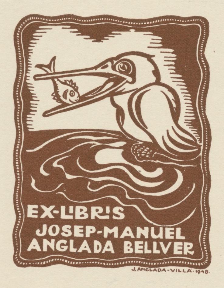 Ex Libris Josep-Manuel Anglada Bellver 5 euro 02