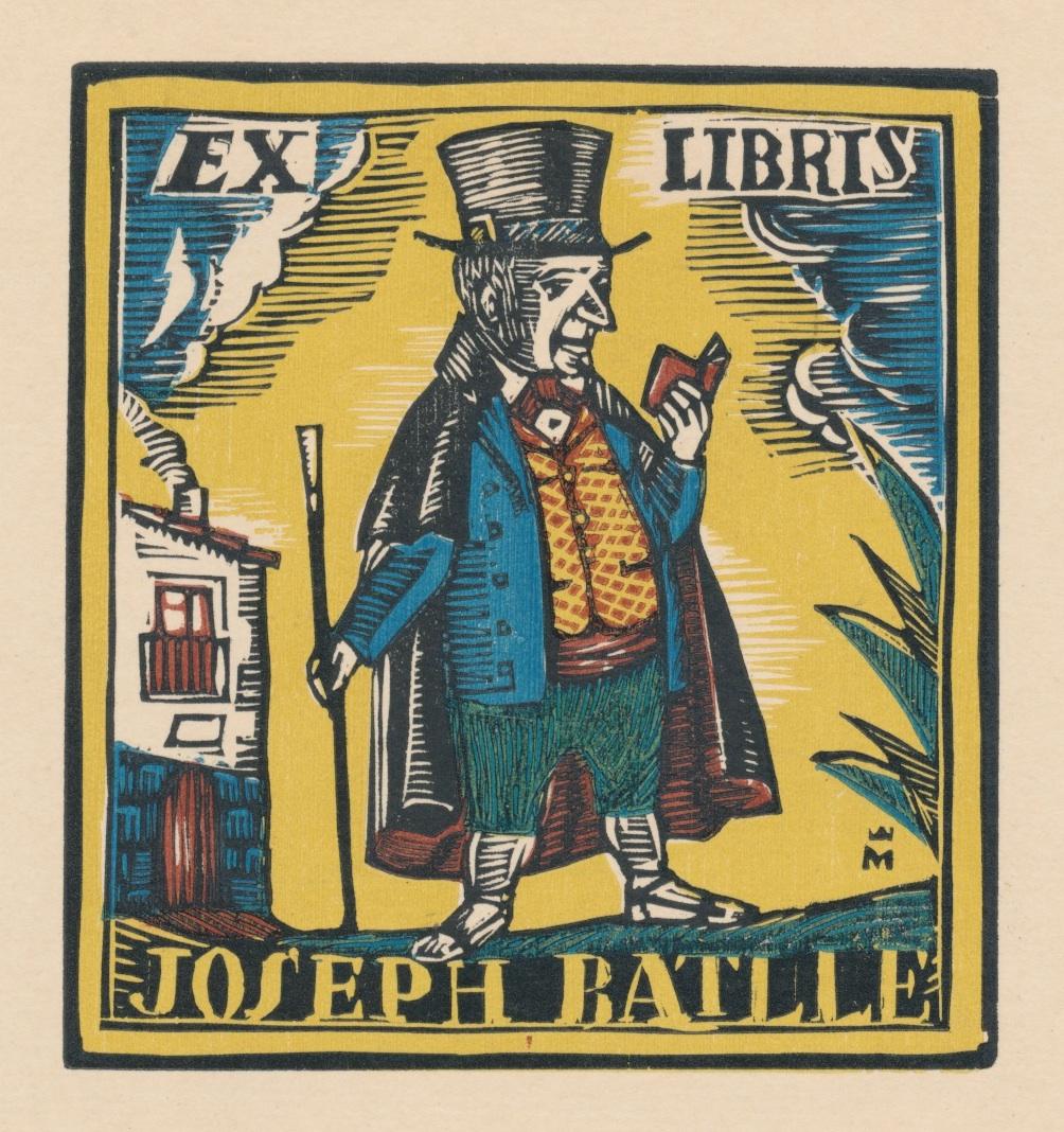 Ex Libris Joseph Batlle - Joaquim Pla i Dalmau 1948 8 euro 02