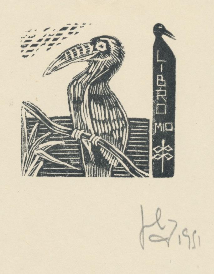 Ex Libris Julio Cesar Salvatierra (ges.houtsnede) III 4 euro 02